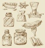 karmowy set ilustracji