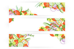 Karmowy sztandar Z warzywami Odizolowywającymi Na Białym tle Obraz Royalty Free