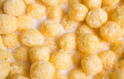 Karmowy tło i tekstury: cornflakes zamykają up Obraz Stock
