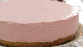 Karmowy tytułowanie i kulinarny cheesecake zbiory