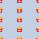 Karmowy wektor Bezszwowy deseniowy fast food dłoniaki Obraz Royalty Free