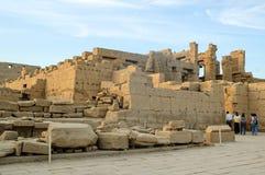 Karnak寺庙古老废墟在埃及 库存图片