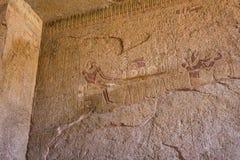 Karnak寺庙古老废墟在埃及 免版税库存图片