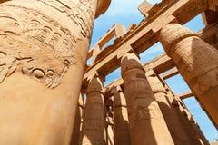 Karnak寺庙在卢克索。 埃及 免版税库存图片