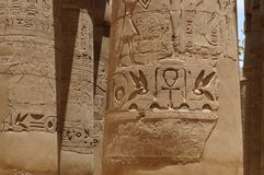 Karnak świątyni kolumna Obraz Royalty Free