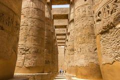 Karnak świątynia - hipostyl Hall w Luxor, Egipt fotografia royalty free