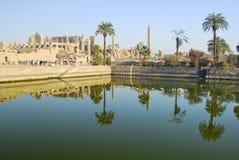 Karnak świątynia Luxor, Egipt - obraz royalty free