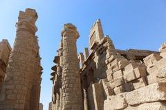 Karnak świątynia - Najwięcej ogromnej świątyni przy Egipt obrazy royalty free