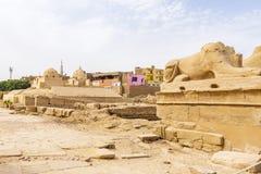 Karnak Świątynny kompleks, Egipt obraz royalty free