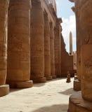 Karnak kolonner. Luxor Egypten Royaltyfria Foton