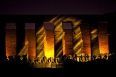 Karnak am lightshow Lizenzfreie Stockfotos