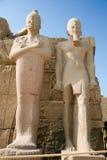 karnak pharaoh statuy świątynne Zdjęcie Stock