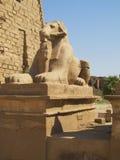 Karnak. Statue showing the presence of Princess stock photo