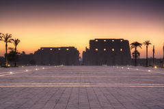 Karnak before sunrise Royalty Free Stock Photos