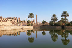 Karnak, Tempel Complex in Luxor, Egypte stock foto's