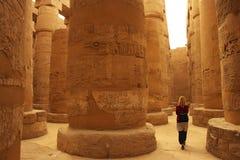 Karnak Tempel in Luxor, Ägypten lizenzfreies stockbild