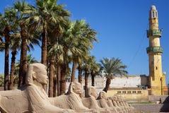 Karnak Tempel Sphinxs Stockbild