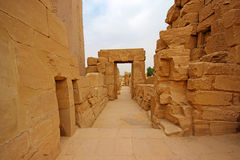 Karnak tempel (Thebes) i Luxor egypt Royaltyfri Bild