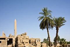 Karnak temple. Details of Egyptian art. An example of the art of the pharaohs Stock Image