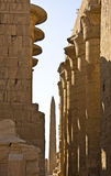 Karnak temple. Details of Egyptian art. An example of the art of the pharaohs Stock Photos