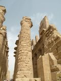 Karnak Temple. A view of the remains of the ancient egyptian Karnak Temple in Luxor, Egypt Royalty Free Stock Photo