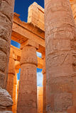 Karnak temple. Old egypt hieroglyphs carved on the columns of Karnak temple (Valley of kings, Egypt stock photos
