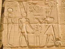 Karnak Temple. Carved stone at Karnak Temple. Thebes. Egypt series royalty free stock photo