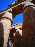 Karnak Temple Colonna deagainst the blue sky Royalty Free Stock Photo
