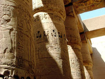 Karnak Temple Colonnade Stock Photo