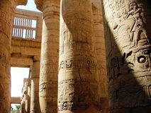Karnak Temple Colonnade Royalty Free Stock Images