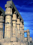 Karnak Temple, colonnade Royalty Free Stock Photos