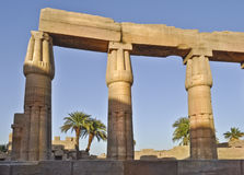 Karnak temple complex.Columns Royalty Free Stock Image