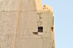 Karnak temple complex.Hieroglyphs Royalty Free Stock Photography