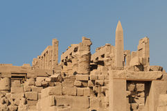 Karnak temple complex.Hieroglyphs Royalty Free Stock Images