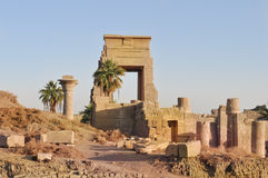 Karnak temple complex.Ruins of pharaohs palace Royalty Free Stock Image