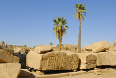 Karnak temple on the east bank of Nile river Royalty Free Stock Photography