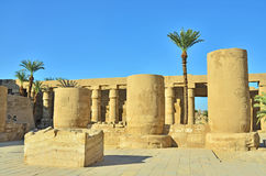 Karnak temple, Egypt. Columns in big Karnak temple in Egypt stock photo