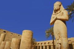 Karnak temple in Egypt. Statue of Ramses at Karnak temple in Egypt Royalty Free Stock Photo