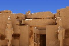 Karnak temple in Egypt. Statue of Ramses at Karnak temple in Egypt Stock Images