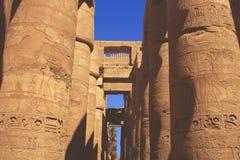 Karnak temple in Egypt. Statue of Ramses at Karnak temple in Egypt Royalty Free Stock Images