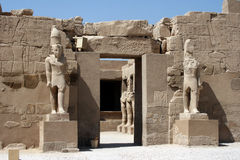 Karnak temple entrance Stock Image