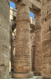 Karnak Temple great columns royalty free stock image