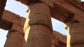 Karnak Temple Great Hypostyle Hall Zoom in on a Column