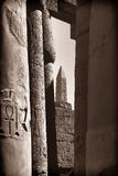 The Karnak temple. The hypo style hall of the kranak temple Stock Images