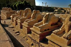 Karnak temple at Luxor Stock Images