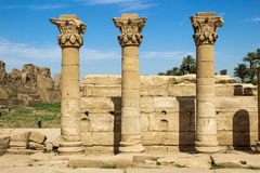 Karnak temple in Luxor. Columns royalty free stock images