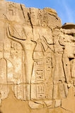 Karnak temple in Luxor, Egypt. Royalty Free Stock Images