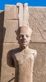 Karnak temple, Luxor, Egypt. Amun Re statue at the Karnak temple, Luxor, Egypt (Ancient Thebes with its Necropolis stock image