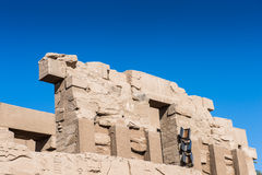 Karnak temple, Luxor, Egypt. Of the Karnak temple, Luxor, Egypt (Ancient Thebes with its Necropolis stock images