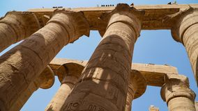 Karnak Temple in Luxor, Egypt. The Karnak Temple Complex, commonly known as Karnak, comprises a vast mix of decayed temples,. Karnak Temple in Luxor, Egypt. The royalty free stock photo